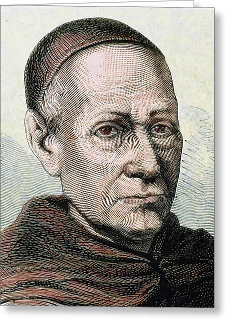 Benito Jeronimo Feijoo (casdemiro Greeting Card by Prisma Archivo