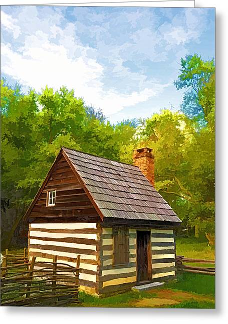 Greeting Card featuring the photograph Benjamin Banneker Cabin by Dana Sohr