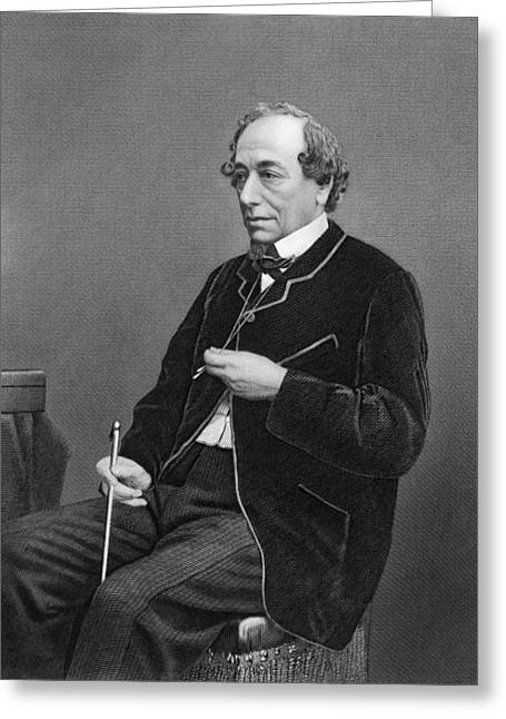 Benjamin Disraeli Greeting Card by Underwood Archives