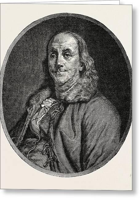 Benjamin Franklin, 1706-1790, Author, Politician, Scientist Greeting Card by English School