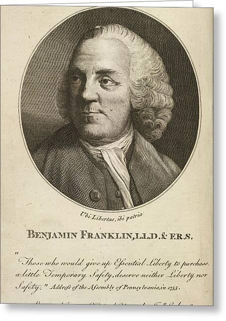 Benjamin Franklin Greeting Card by British Library