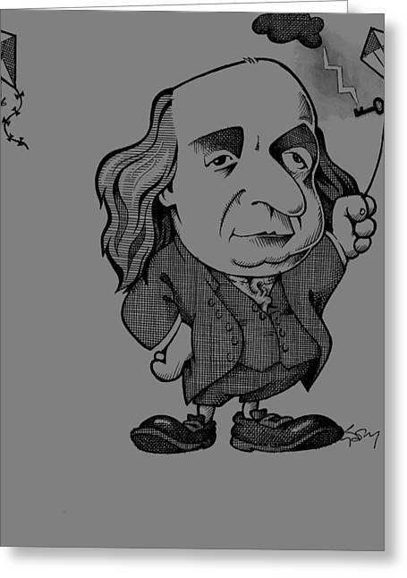 Benjamin Franklin, Caricature Greeting Card