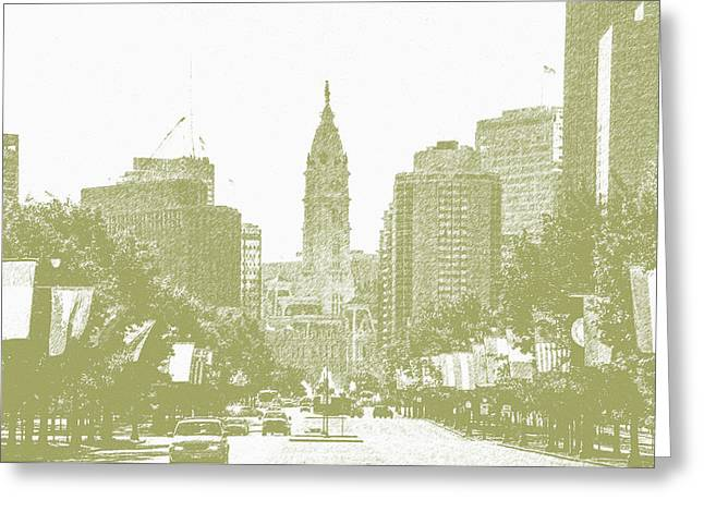 Benjamin Franklin Parkway - Philadelphia Pa Greeting Card