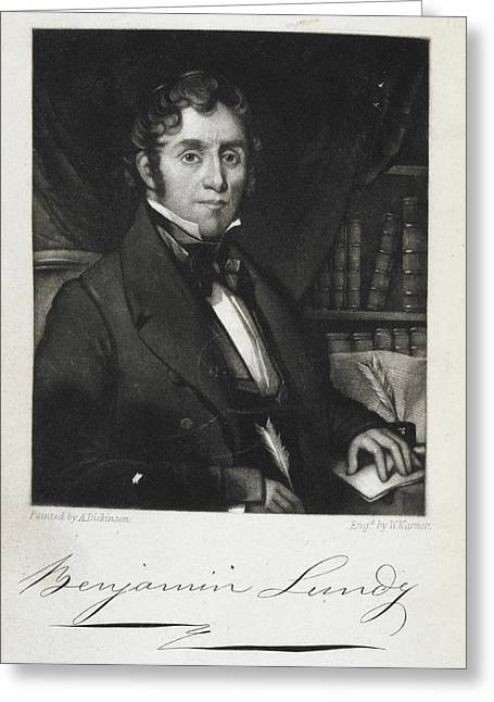 Benjamin Lundy Greeting Card by British Library