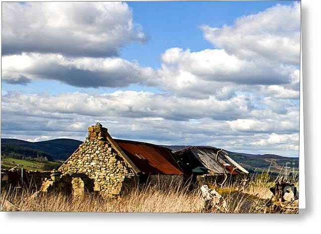 Bennachie With Derelict Steading Greeting Card