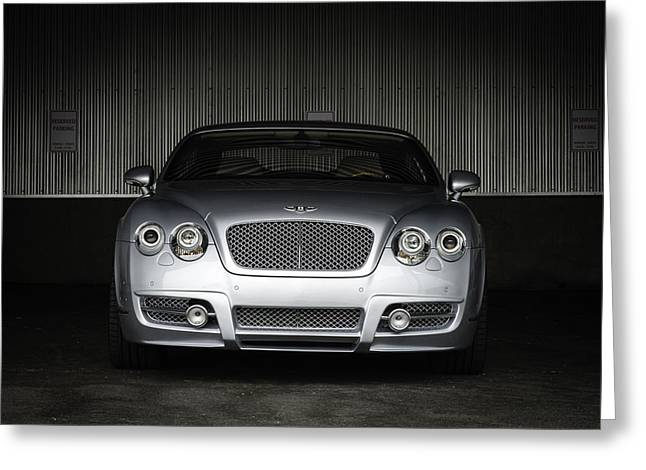 Bentley Continental Front View Greeting Card by Enrique Morales