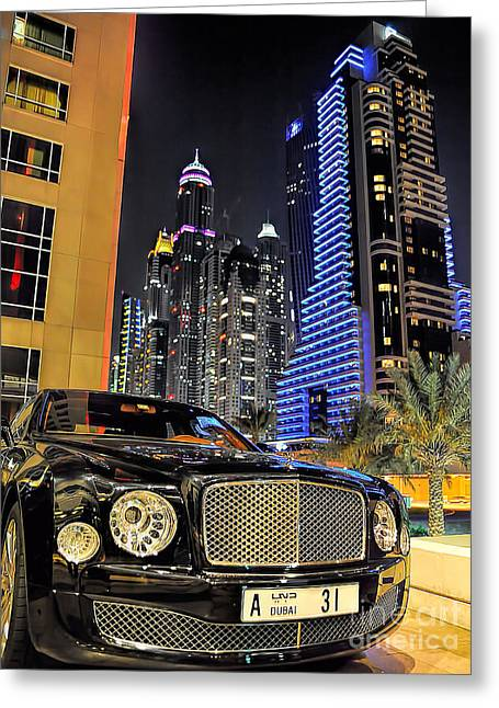 Bentley Mulsanne Greeting Card by Graham Taylor