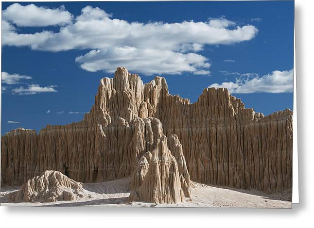 Bentonite Clay Formations Cathedral Greeting Card by Kevin Schafer