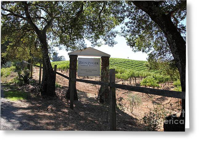 Benziger Winery In The Sonoma California Wine Country 5d24592 Greeting Card by Wingsdomain Art and Photography