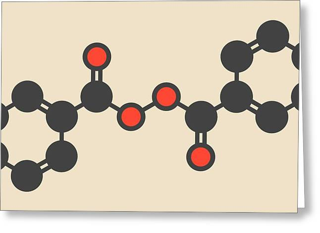 Benzoyl Peroxide Acne Drug Molecule Greeting Card by Molekuul
