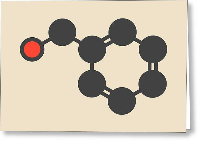 Benzyl Alcohol Solvent Molecule Greeting Card
