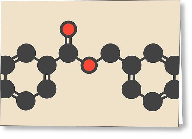 Benzyl Benzoate Drug Molecule Greeting Card by Molekuul