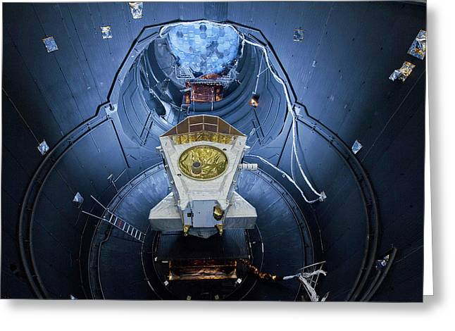 Bepicolombo Mission Testing Greeting Card by Esa-anneke Le Floc'h