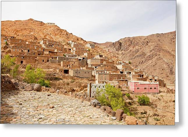 Berber Village Greeting Card by Ashley Cooper