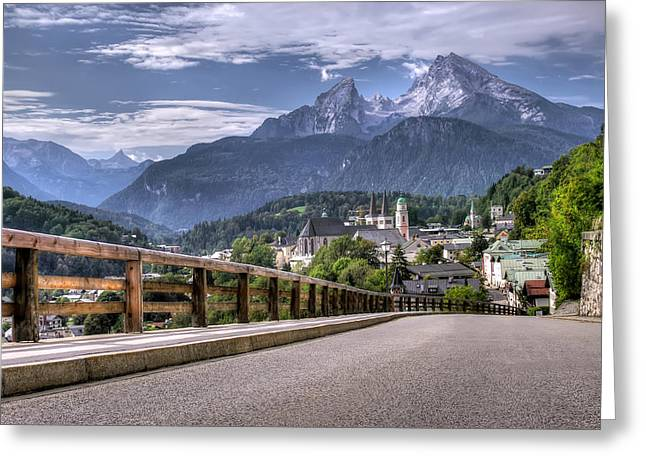 Berchtesgaden Road And Mountain Greeting Card by Ioan Panaite