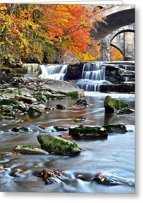 Berea Falls Ohio Greeting Card by Frozen in Time Fine Art Photography