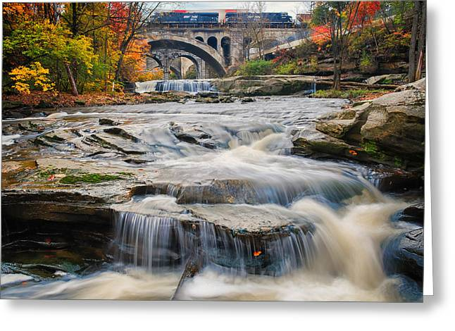 Berea Waterfalls In Autumn Greeting Card