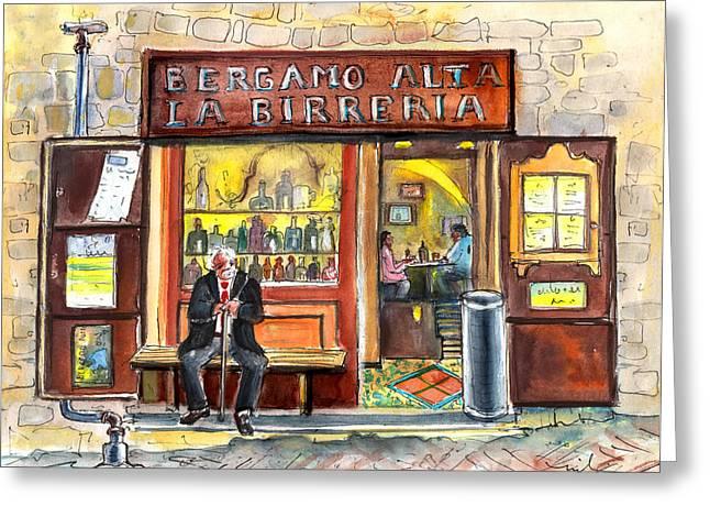Bergamo Alta La Birreria Greeting Card