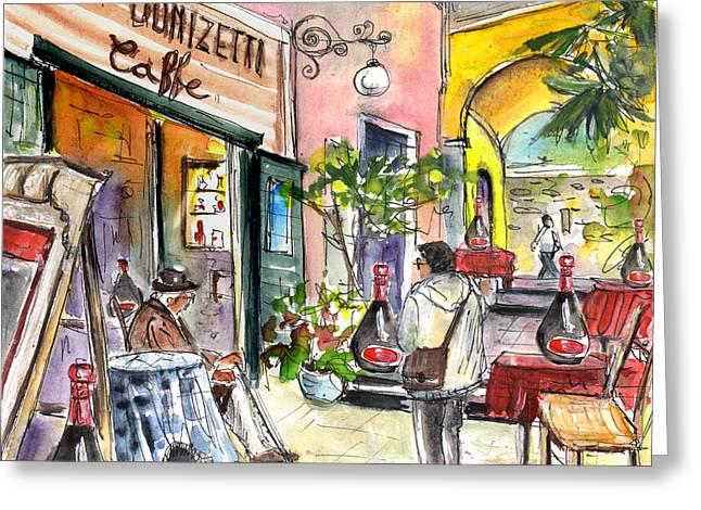 Bergamo Upper Town 01 Greeting Card by Miki De Goodaboom