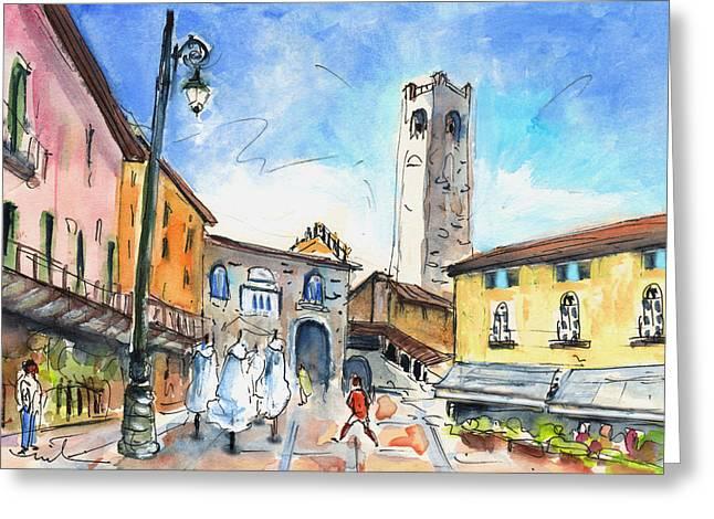 Bergamo Upper Town 03 Greeting Card by Miki De Goodaboom