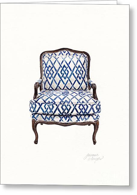 Bergere Greeting Card by Jazmin Angeles