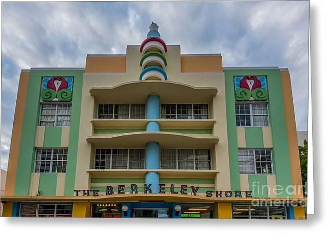 Berkeley Shores Hotel  2 - South Beach - Miami - Florida Greeting Card by Ian Monk