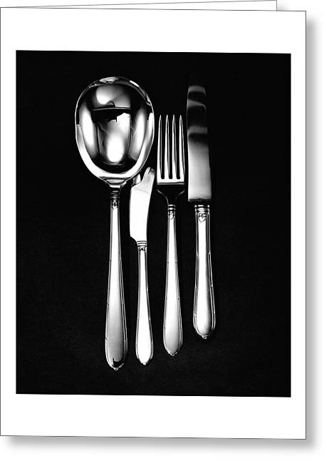 Berkeley Square Silverware Greeting Card