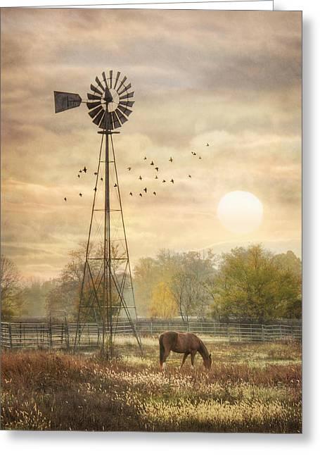 Berks County Sunrise Greeting Card by Lori Deiter