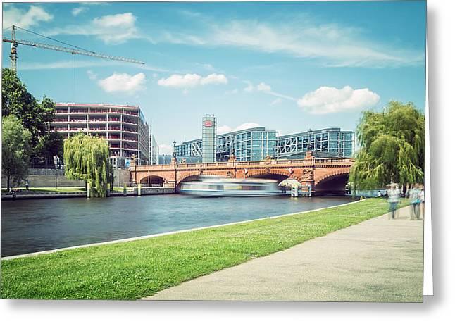 Berlin - Moltke Bridge Greeting Card by Alexander Voss