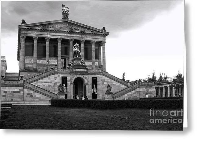 Berlin - National Gallery - Black And White Greeting Card by Gregory Dyer