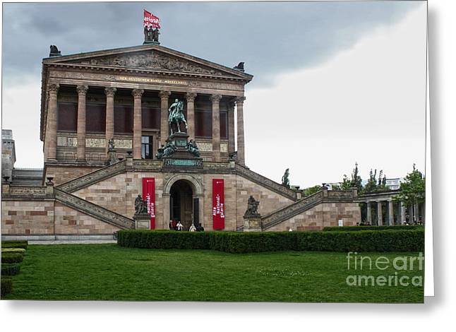 Berlin - National Gallery Greeting Card by Gregory Dyer