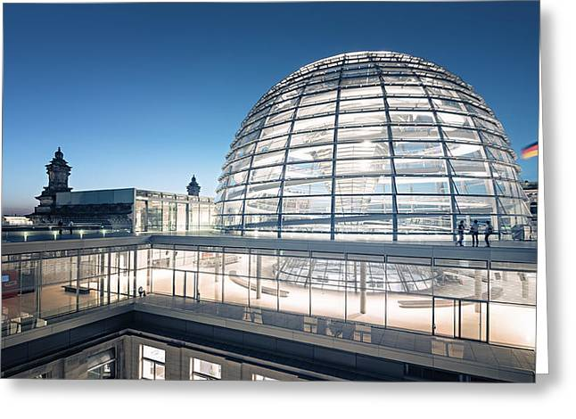 Berlin - Reichstag Dome Greeting Card by Alexander Voss