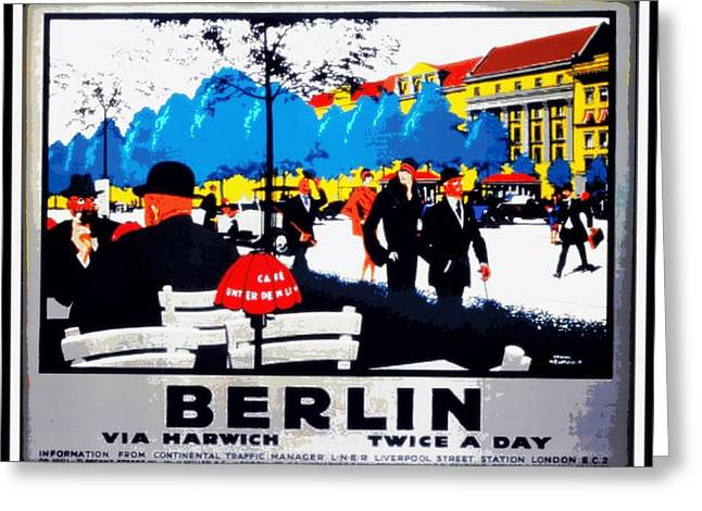 Berlin 1925 Greeting Card by Unknown
