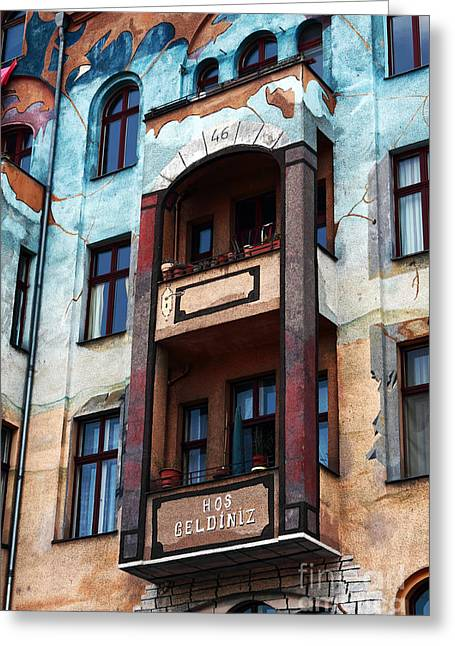 Berlin Architecture Greeting Card by John Rizzuto