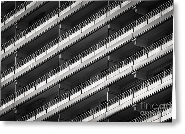 Berlin Balconies Greeting Card by Rod McLean