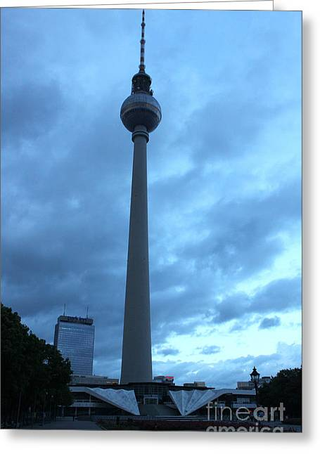 Berlin - Berliner Fernsehturm - Radio Tower No.02 Greeting Card by Gregory Dyer
