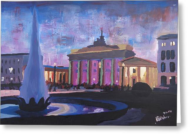 Berlin Brandenburger Tor Greeting Card by M Bleichner