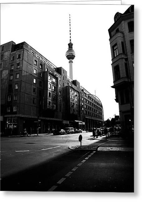 Berlin Bw Greeting Card by Falko Follert