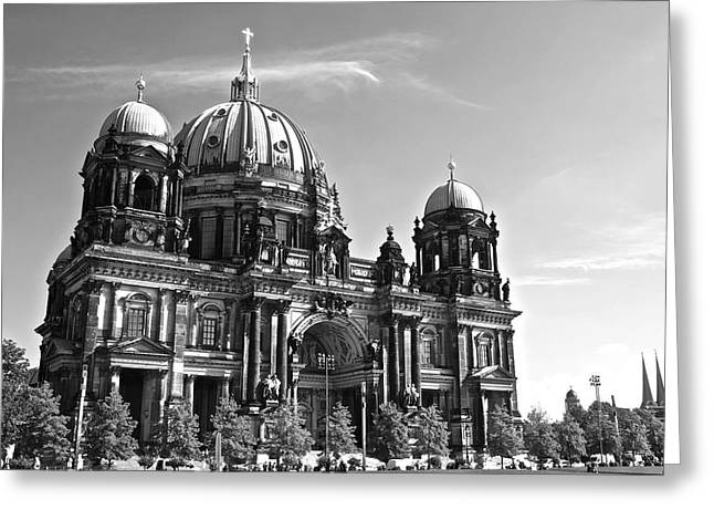 Berlin Cathedral Greeting Card by Galexa Ch