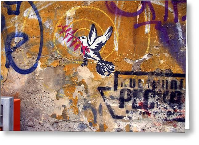 Berlin Graffiti Greeting Card