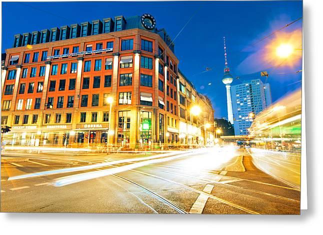 Berlin Hackescher Markt Greeting Card by Alexander Voss