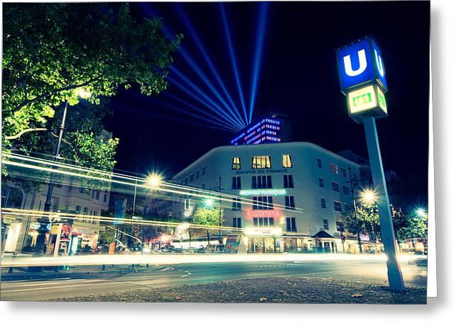 Berlin Kurfurstendamm Greeting Card by Alexander Voss