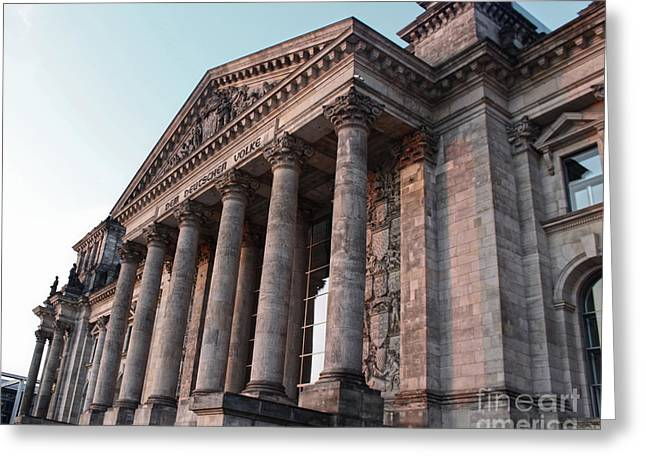 Berlin - Reichstag - Front - 02 Greeting Card by Gregory Dyer
