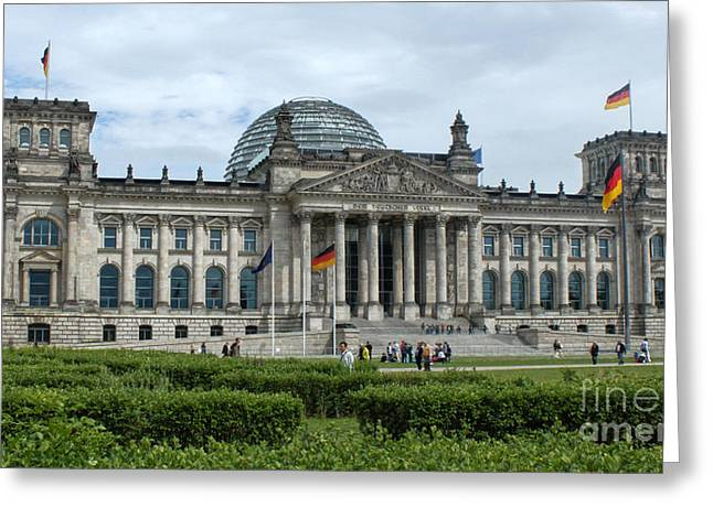 Berlin - Reichstag Front Greeting Card by Gregory Dyer