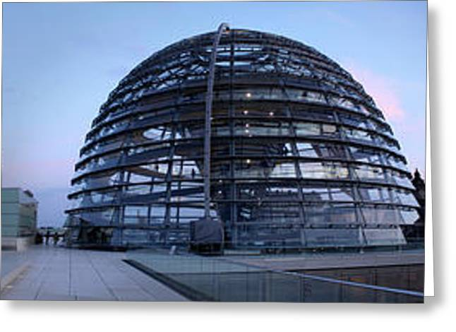 Berlin - Reichstag Panorama Greeting Card by Gregory Dyer