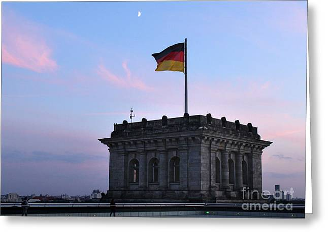 Berlin - Reichstag Roof - No.01 Greeting Card by Gregory Dyer