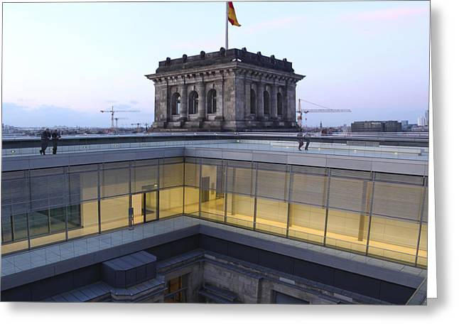 Berlin - Reichstag Roof - No.04 Greeting Card by Gregory Dyer