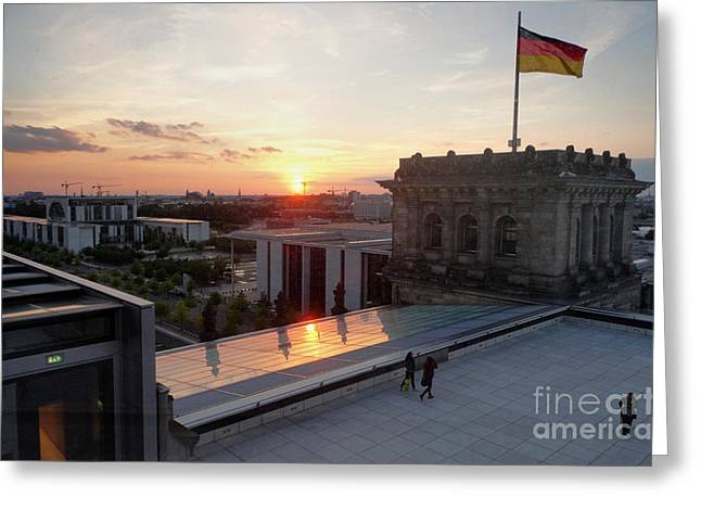 Berlin - Reichstag Roof - No.07 Greeting Card by Gregory Dyer