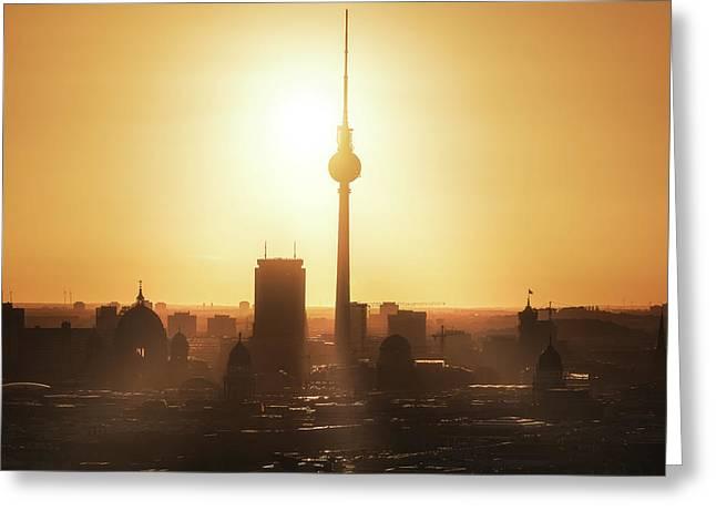 Berlin - Skyline Sunrise Greeting Card