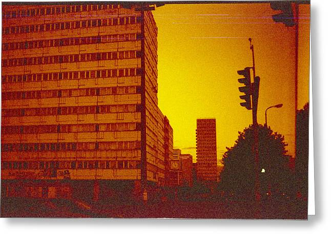 Berlin Street Ddr Greeting Card